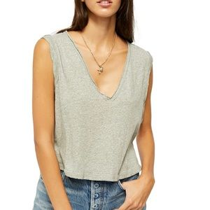 Free People | Soft V Neck Muscle Tank 🖤